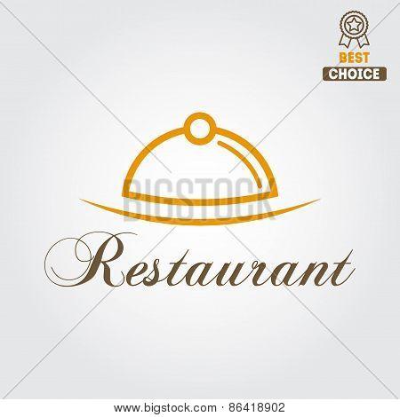 Logo or badge for restaurant, cafe and bar
