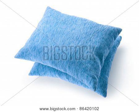 Soft Blank Blue Pillows