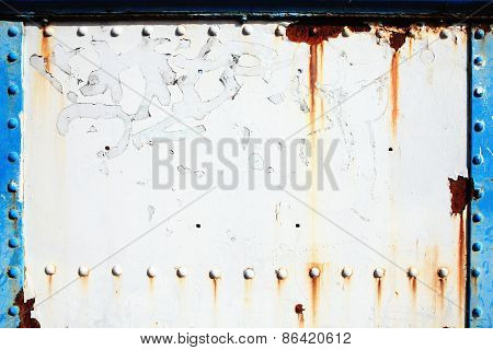 Old cast iron sheet metal background