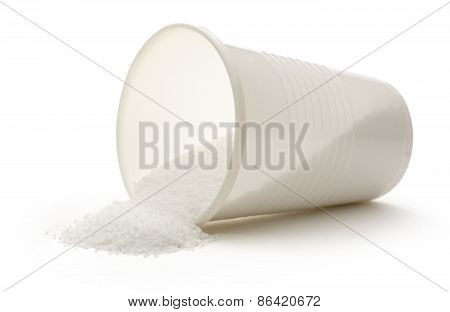 White Plastic Cup With Salt