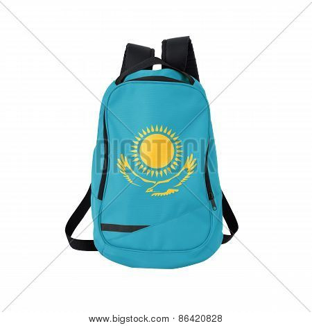 Kazakhstan Flag Backpack Isolated On White