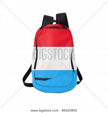 Luxembourg Flag Backpack Isolated On White