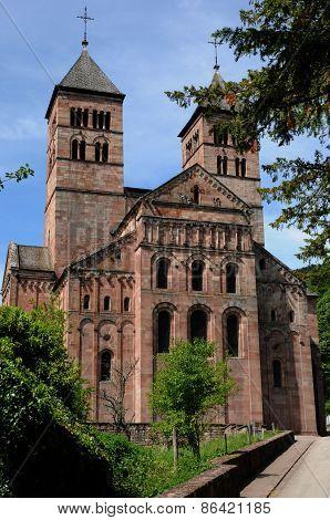 The Roman Abbey Of Murbach In Alsace