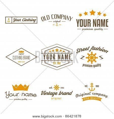 Retro Vintage Insignias, logo or Logotype set