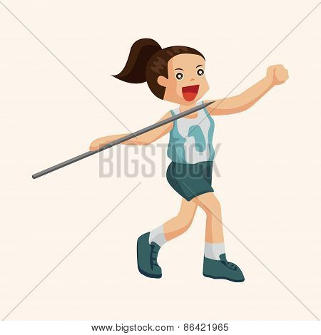 Track And Field Athletes Theme Elements