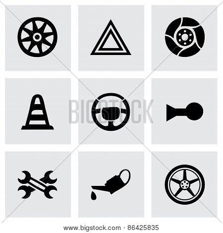 Vector car parts icons set