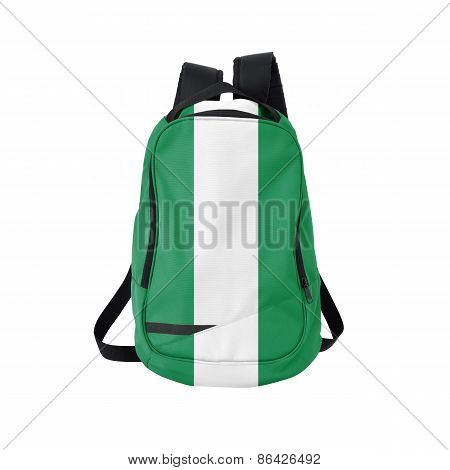 Nigeria Flag Backpack Isolated On White