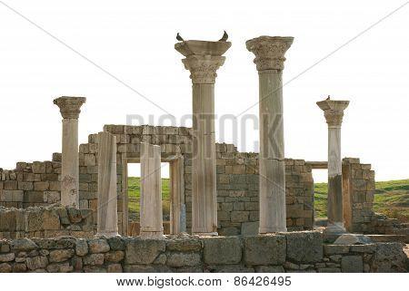 Ancient Castle With Columns