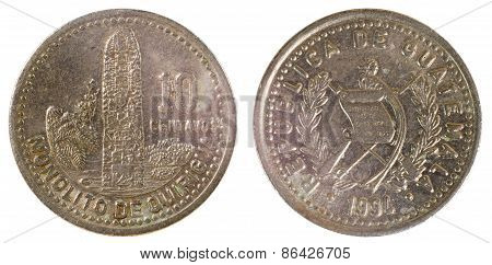 Old Coin Of Guatemala