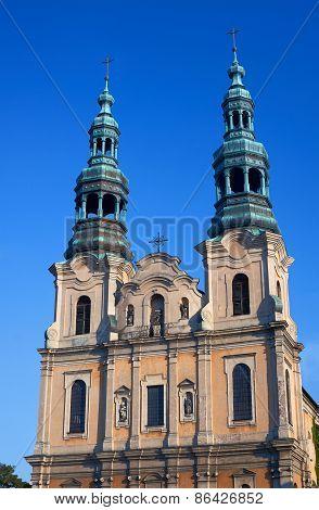 Baroque church towers
