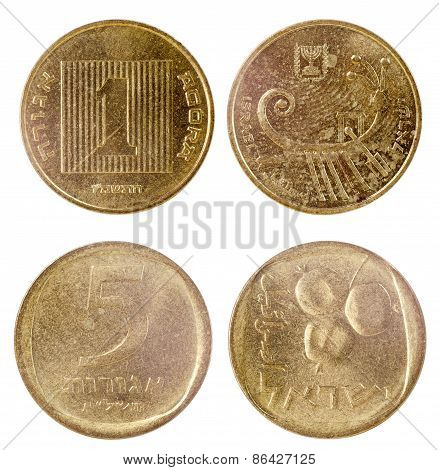 Two Old Coins Of Israel