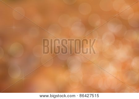 Illustration  Shiny Background With Bokeh And Copy Space In Golden Orange Colors.
