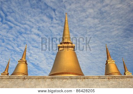 Nine-end Pagoda in The Temple of Marble Pali Canon(tripitaka)