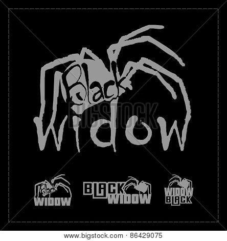Black widow logo set