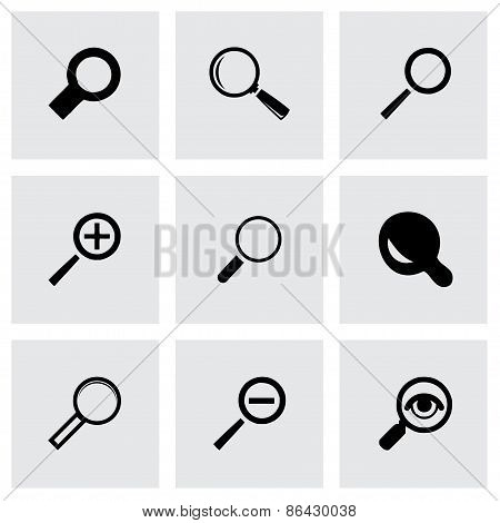 Vector magnifying glass icons set