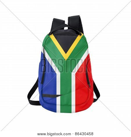 South Africa Flag Backpack Isolated On White
