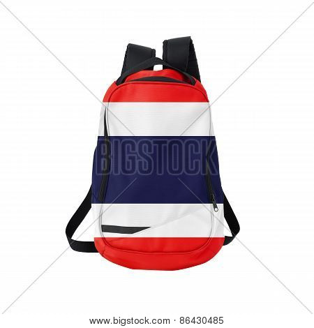 Thailand Flag Backpack Isolated On White