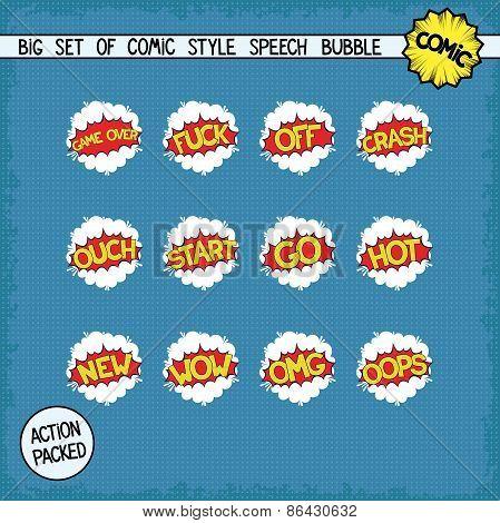 Retro comic bang