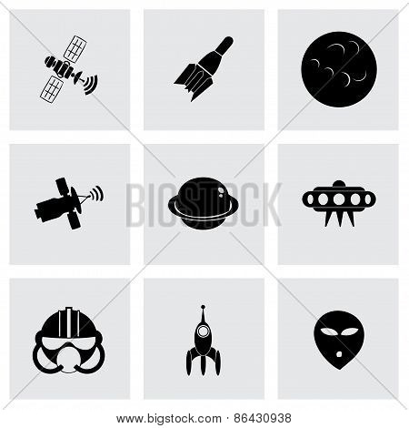 Vector space icon set