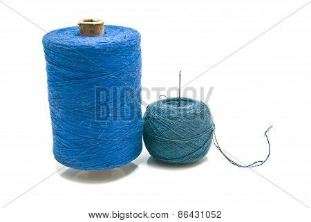 Ball Of Yarn And Spool Of Thread