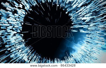 Blue explosion background