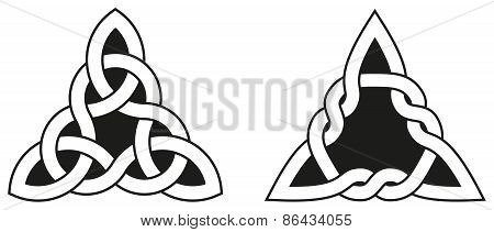 Two Celtic Triangle Knots