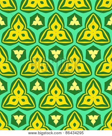 Psychedelic Abstract Colorful Yellow Green Seamless Pattern.