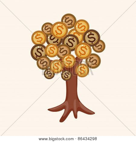Financial Money Tree Theme Elements