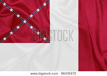 American Civil War - The third national flag of the Confederate States of America also known as The