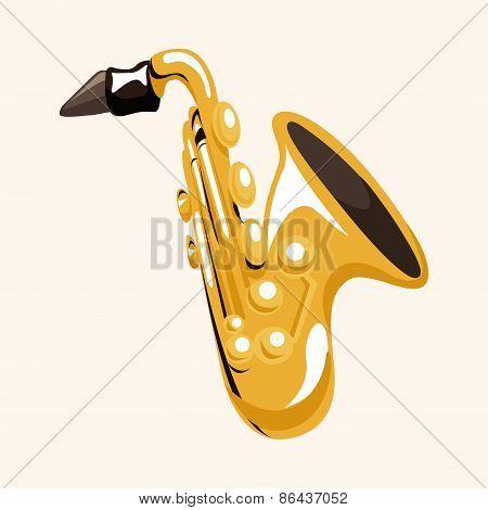 Instrument Saxophone Cartoon Theme Elements