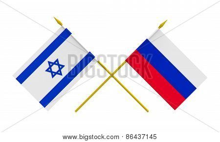 Flags, Israel And Russia