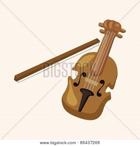 Instrument Violin Cartoon Theme Elements