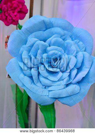 blue paper flower