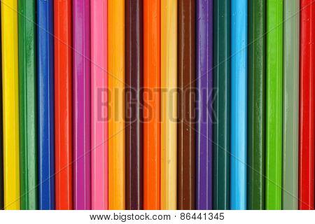 horizontal background of colour pencils