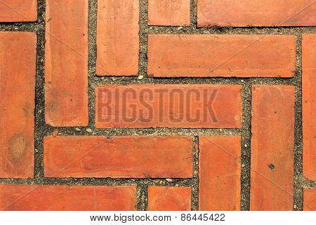 Texture From Bricks Floor