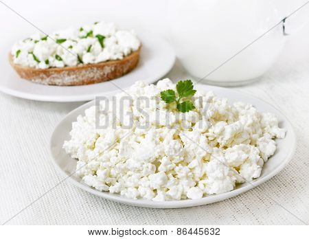 Breakfast With Curd Cheese