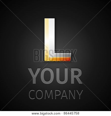 Abstract Vector Logo Letter L