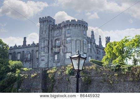 Antique Street Lamp And Castle View