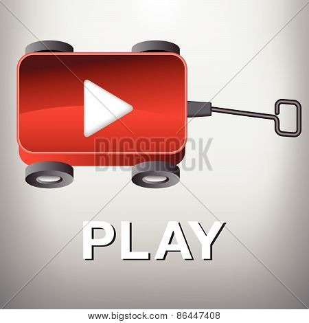 Play Movie Button Wagon