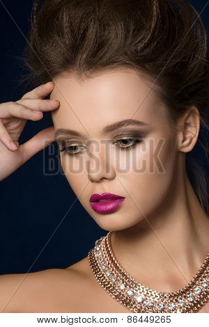 Beauty Fashion Glamour Woman Portrait