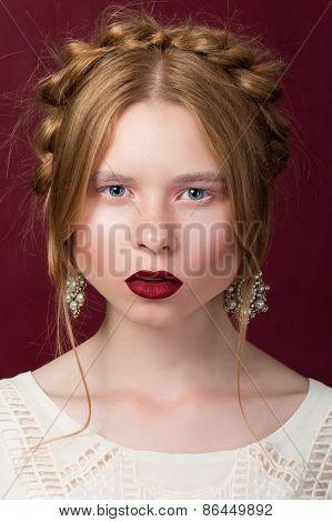 Russsian Styled Beauty Portrait