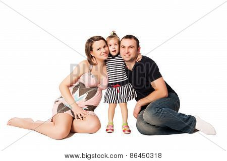 Happy Family Expecting A New Baby
