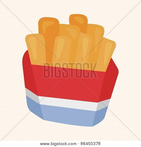 Fried Foods Theme French Fries Elements