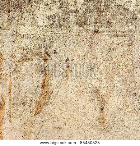 Abstract Textured Cracked Old Vintage Background. For Creative Unusual Vintage Design. Grungy Concre