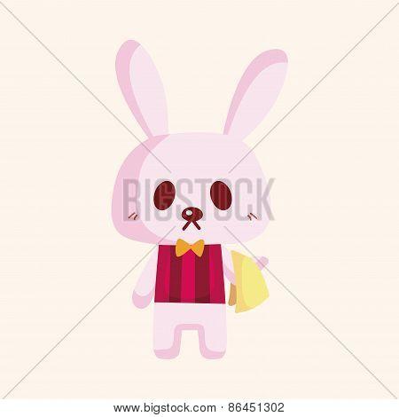 Animal Rabbit Summer Cartoon Theme Elements