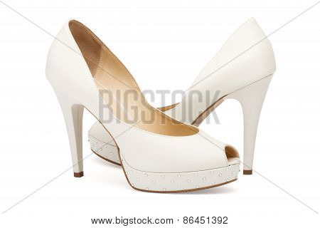 Ivory Female Wedding Footwear