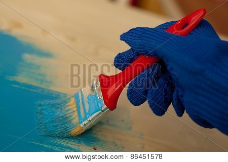Painting wood