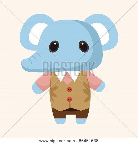 Animal Elephant Winter Cartoon Theme Elements