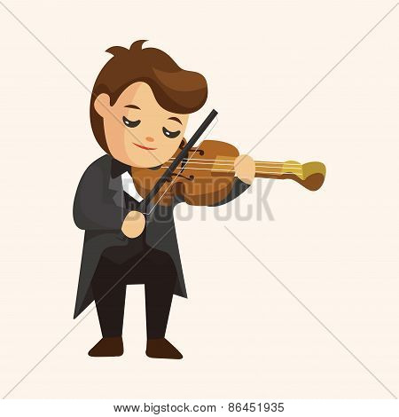 Character Musician Violinist Theme Elements