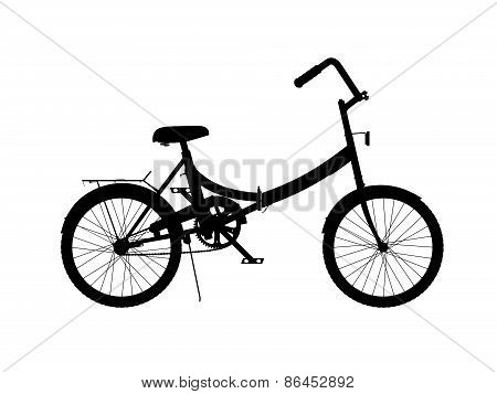 Silhouette Of Bicycle
